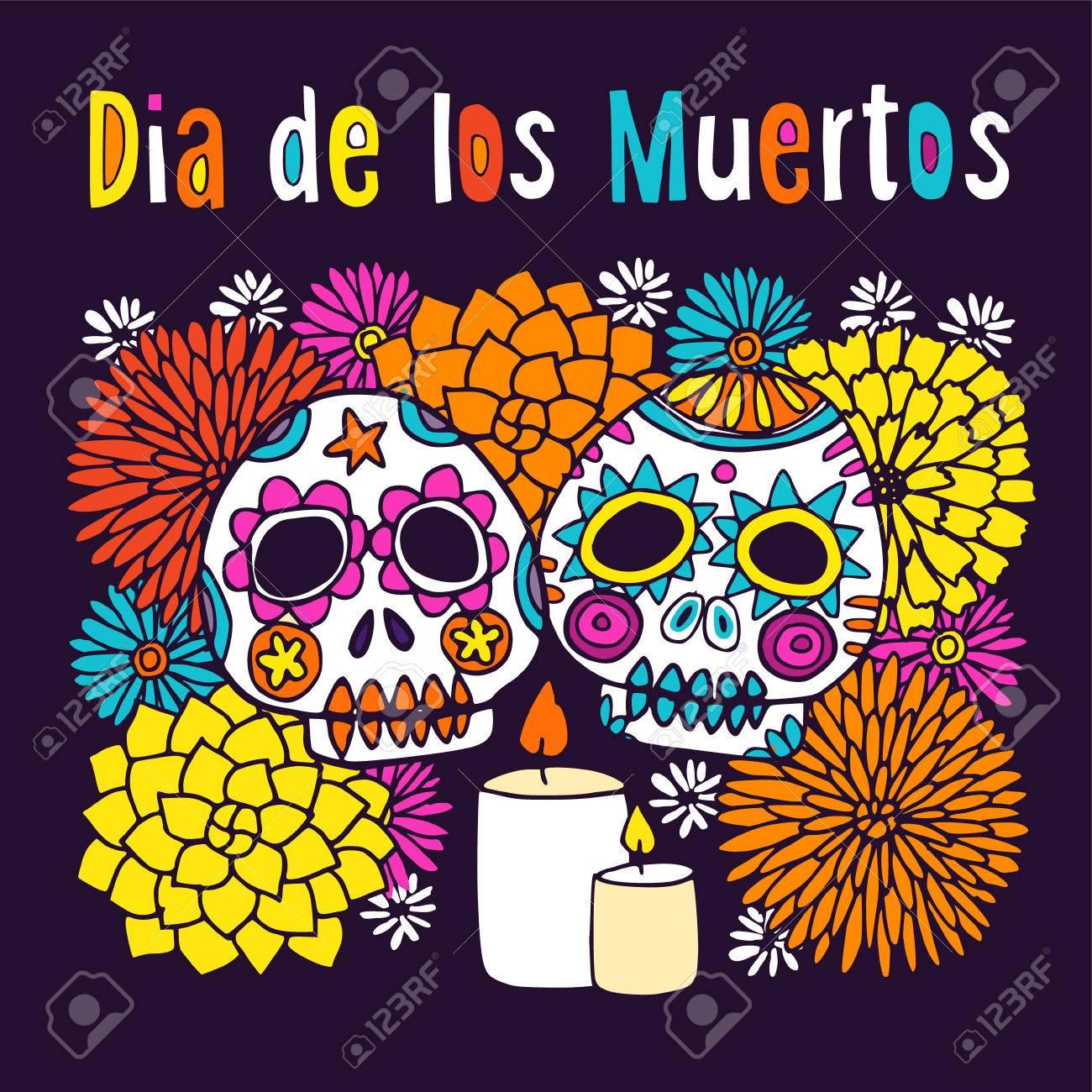 Dia de los muertos day of dead or halloween greeting card dia de los muertos day of dead or halloween greeting card invitation m4hsunfo