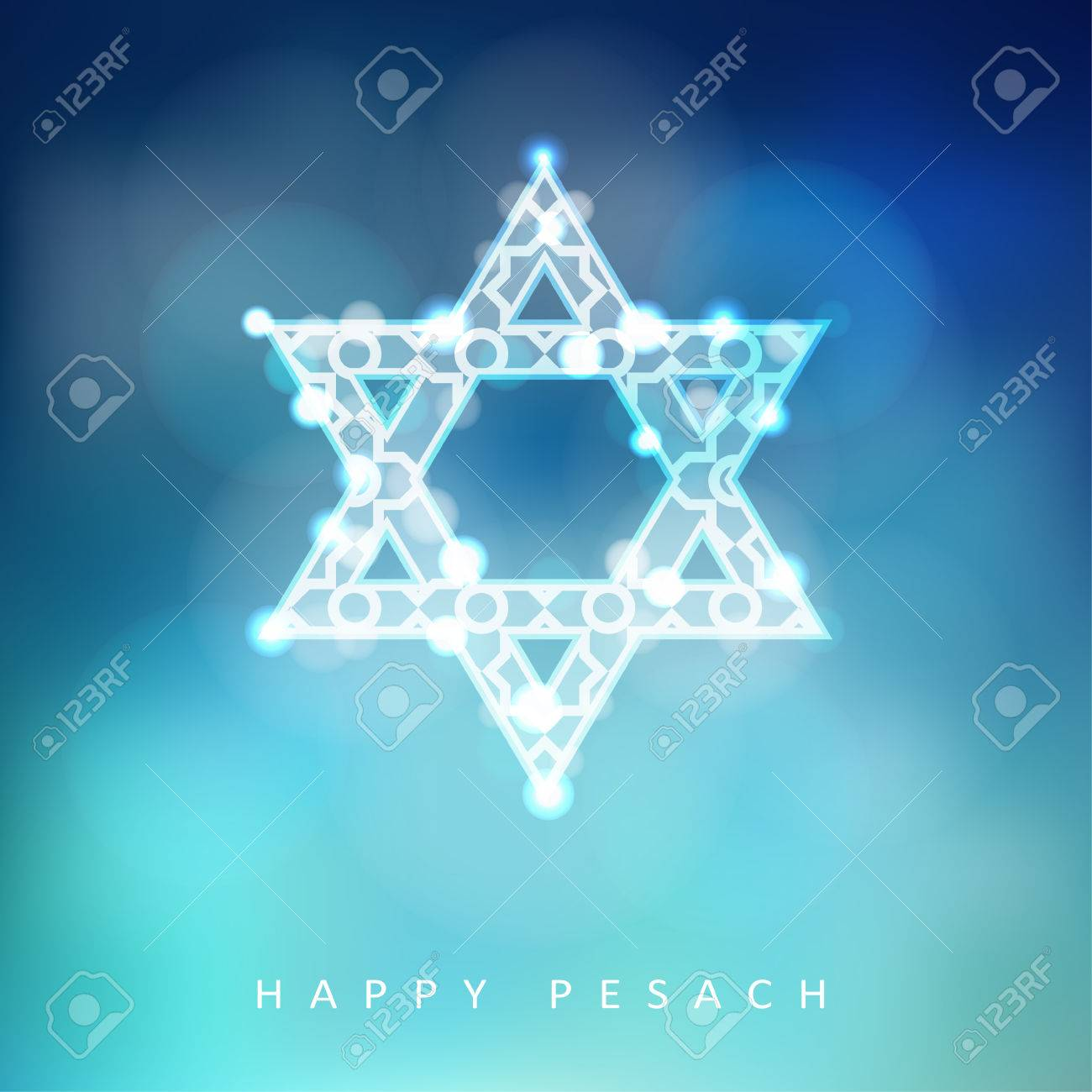 Jewish holiday passover greeting card with ornamental glittering jewish holiday passover greeting card with ornamental glittering jewish star illustration background stock vector m4hsunfo Image collections