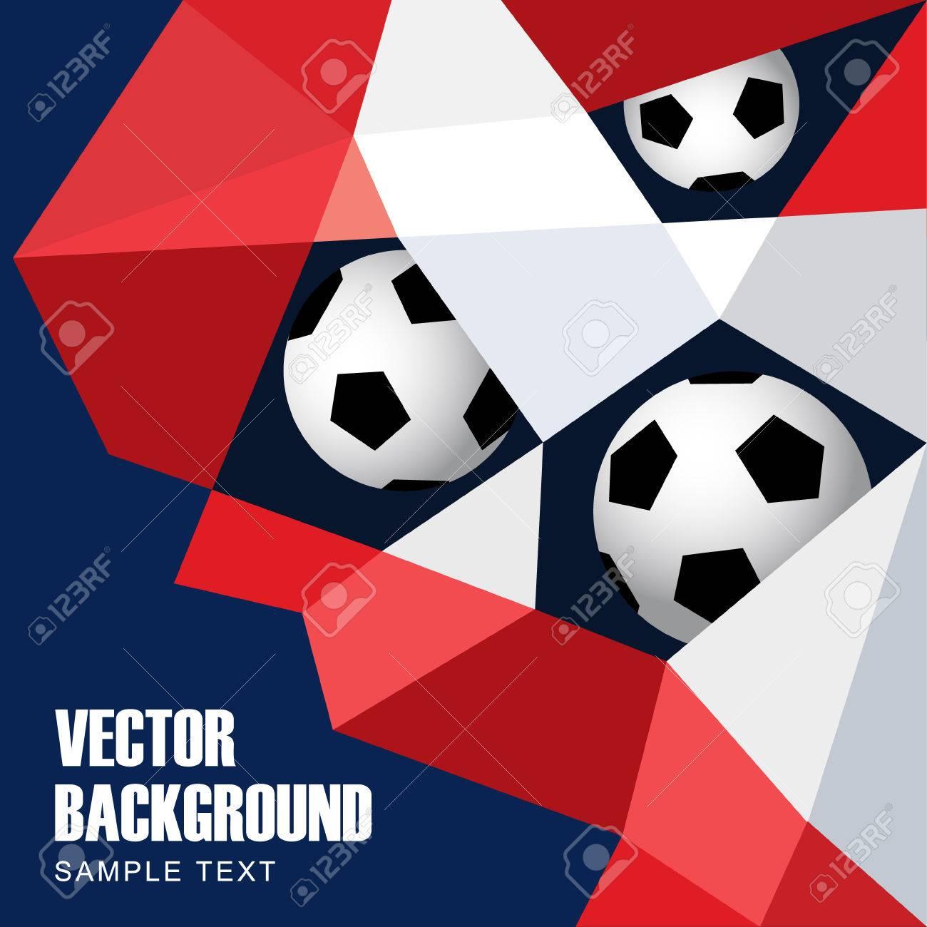 Fußball, Fußball-Konzept. Abstract Modern Polygon Hintergrund In ...