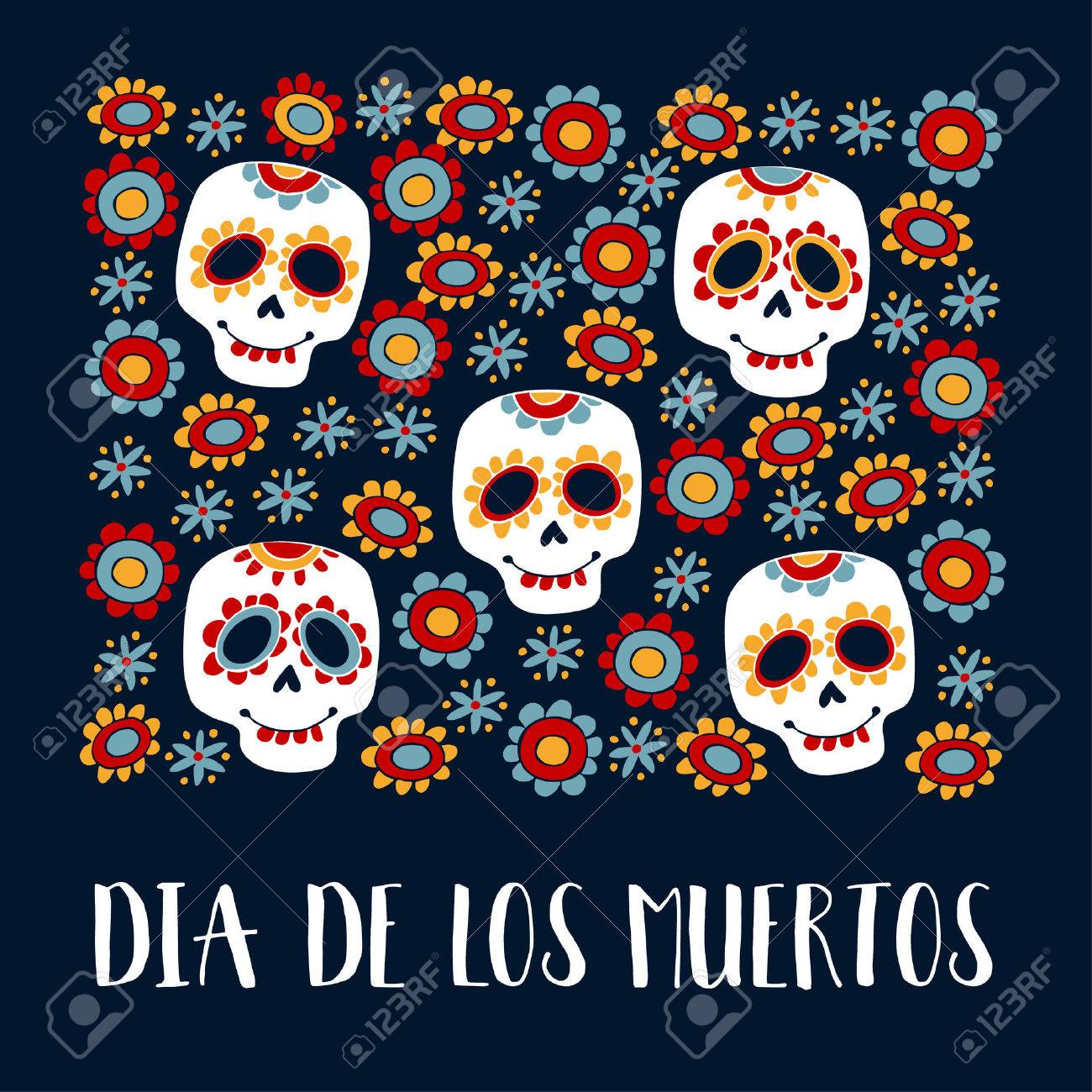 Day of the dead greeting choice image greetings card design simple dia de los muertos greeting card invitation mexican day of the dead m4hsunfo