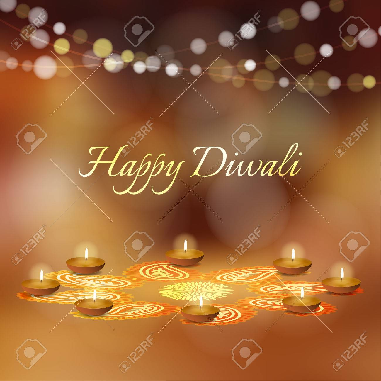 Happy diwali greeting card invitation indian festival of lights happy diwali greeting card invitation indian festival of lights diya oil lit lamps m4hsunfo
