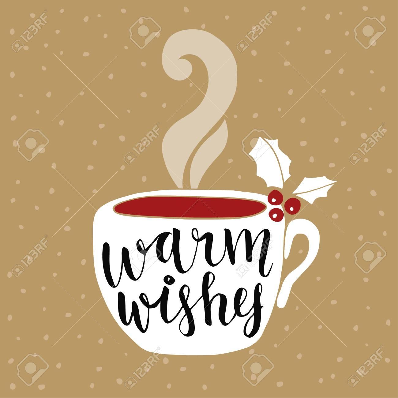 Weihnachten, Neujahr Grußkarten, Einladungen. Handwritten Warm ...