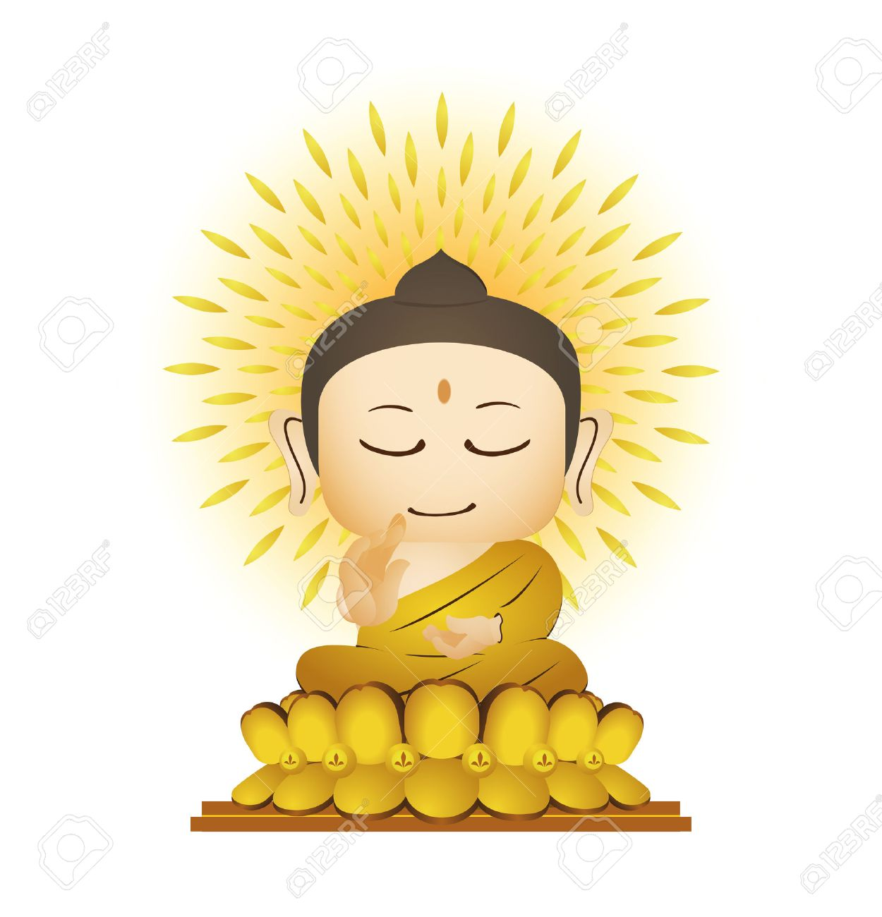 Buddha Cartoon Vector Royalty Free Cliparts, Vectors, And Stock ...