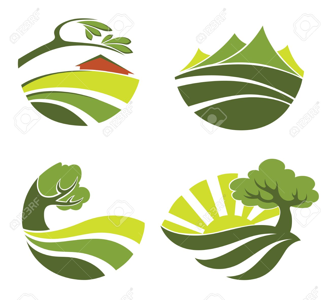 collection of landscape symbols Stock Vector - 13754714