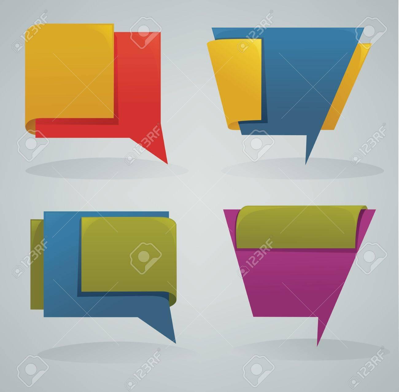 vector de coleccin de diferentes banderas de la tela de colores y cuadros de texto
