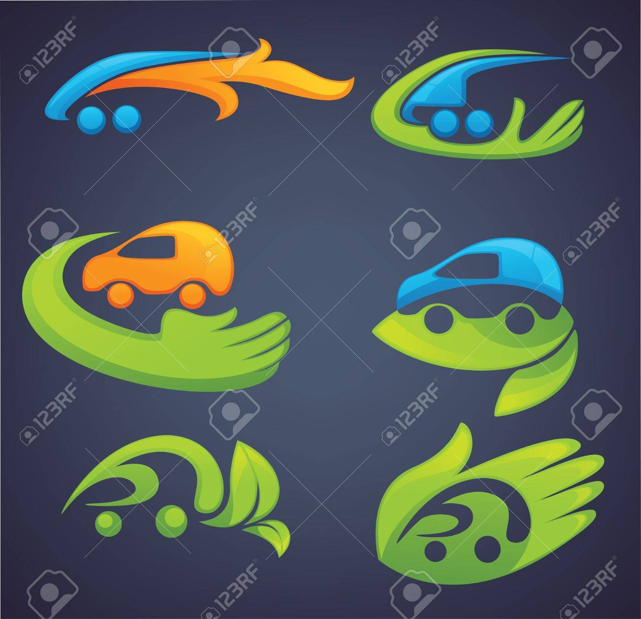 ecological transport, vector collection of icons and symbols Stock Vector - 16262494