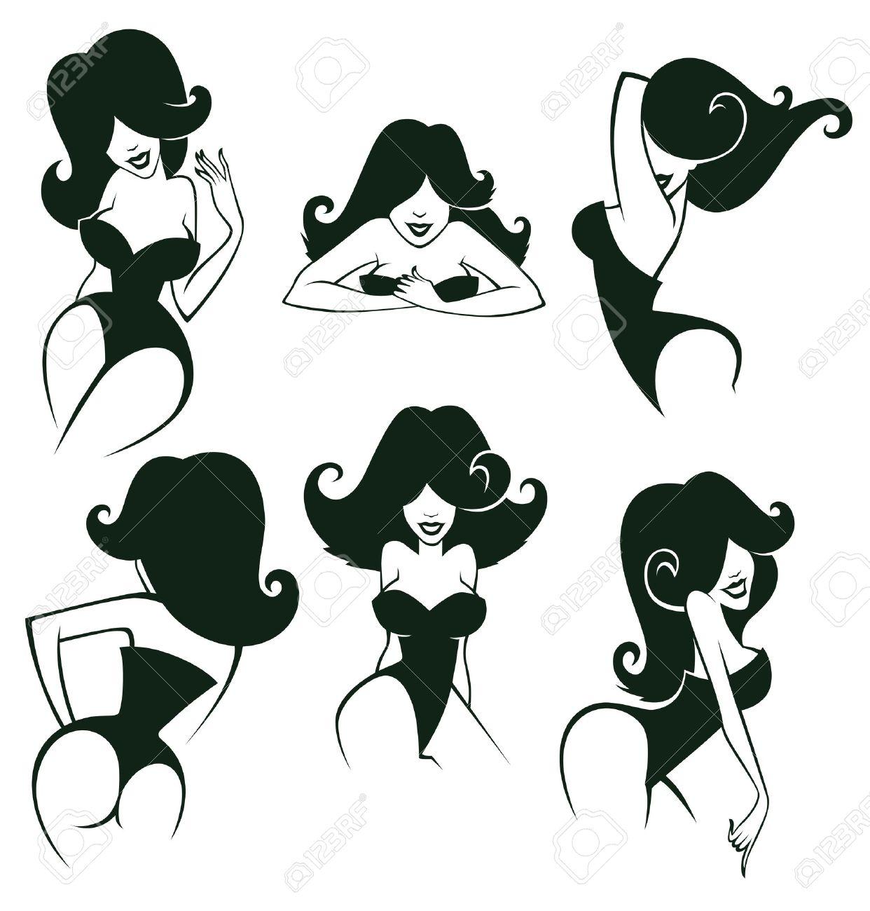 Pin up motorcycle line art jpg - Pin Up Cartoon Girls Images