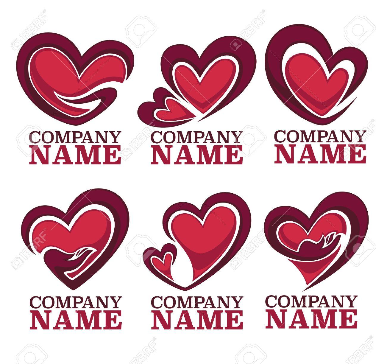 Vector Colección De Corazón, Las Manos Y El Amor Logotipo, Concepto ...