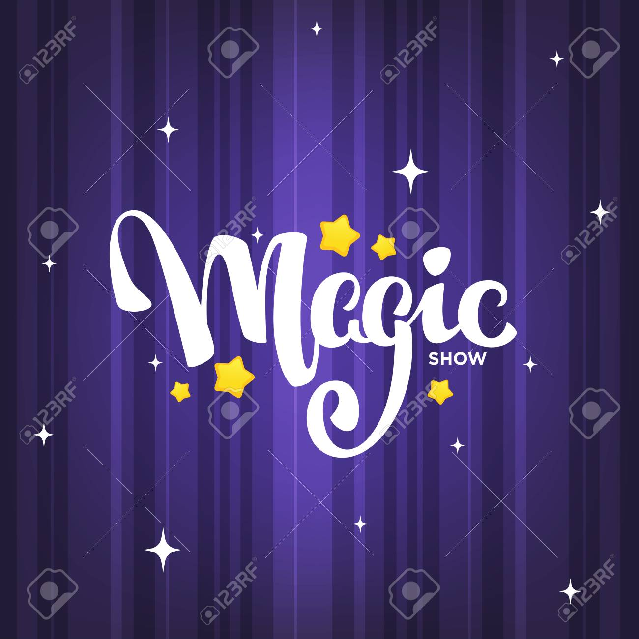 Magic Show, letteing composition on magic background for your logo, poster, invitation - 116940474