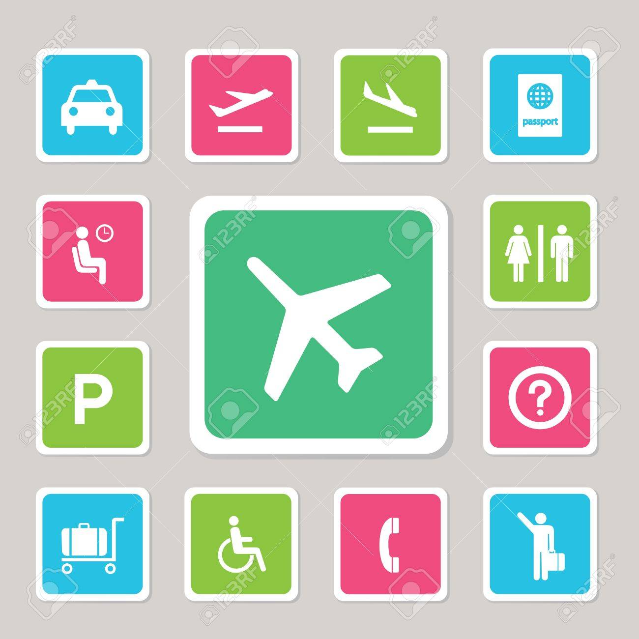 Airport icons set for use Stock Vector - 20537274