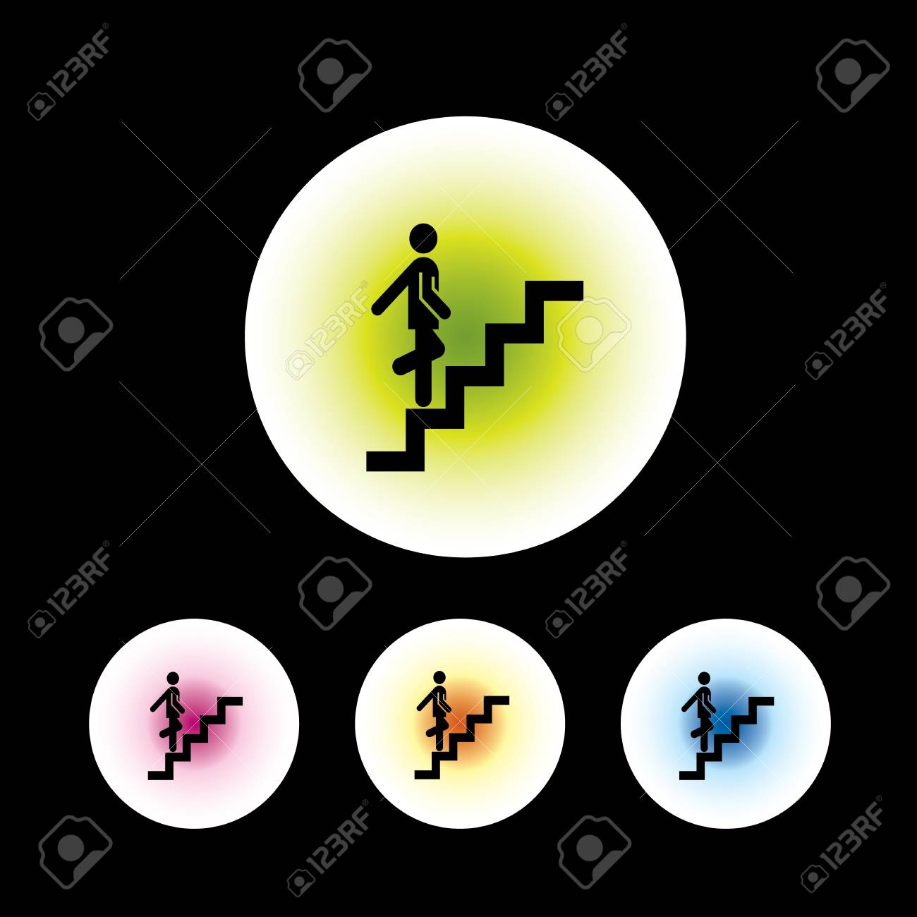 icon set in black background for use Stock Vector - 20780068