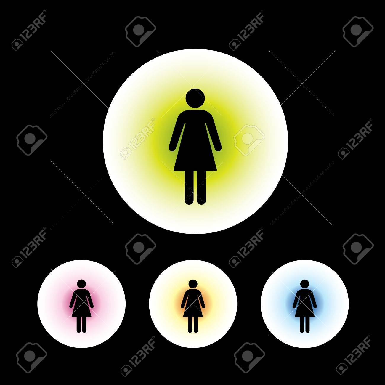 icon set in black background for use Stock Vector - 20864124