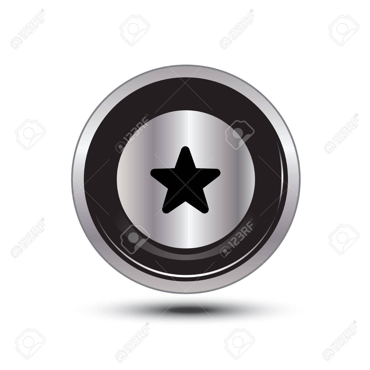 single button aluminum for use Stock Vector - 21137690