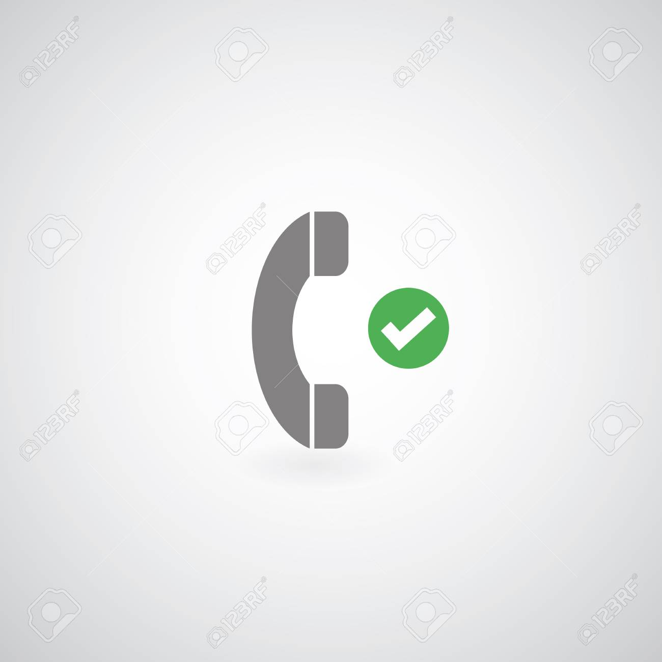 phone symbol on gray background Stock Vector - 24474528