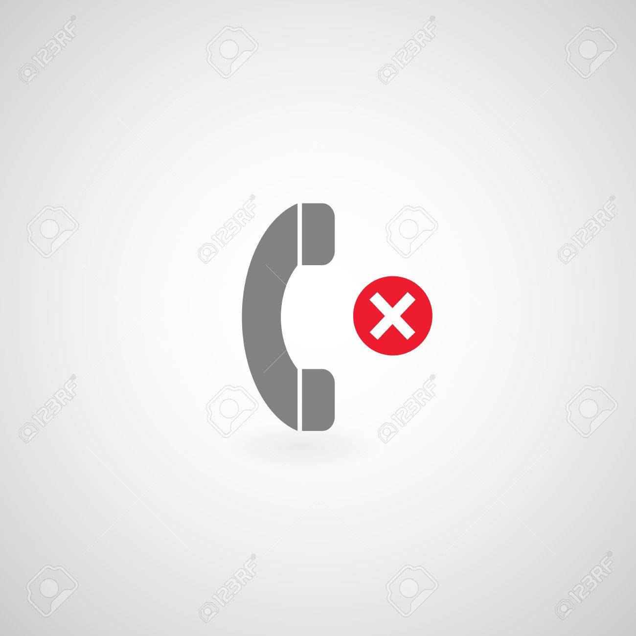 phone symbol on gray background Stock Vector - 24474579