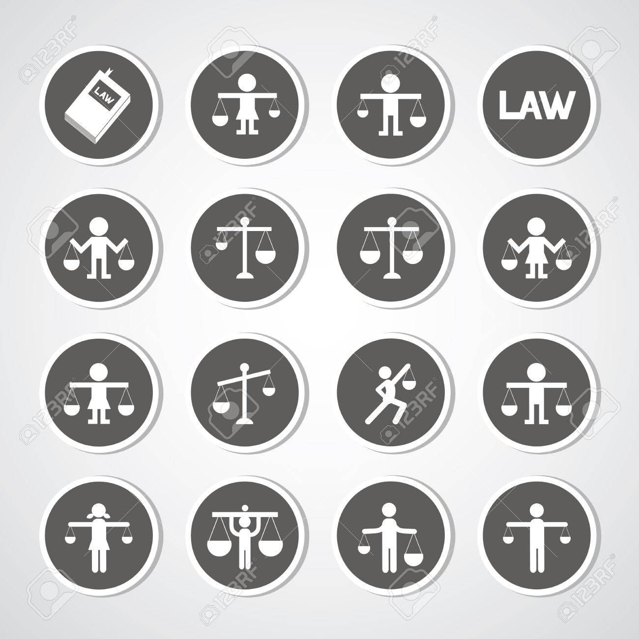 scales icon on gray background Stock Vector - 26184620