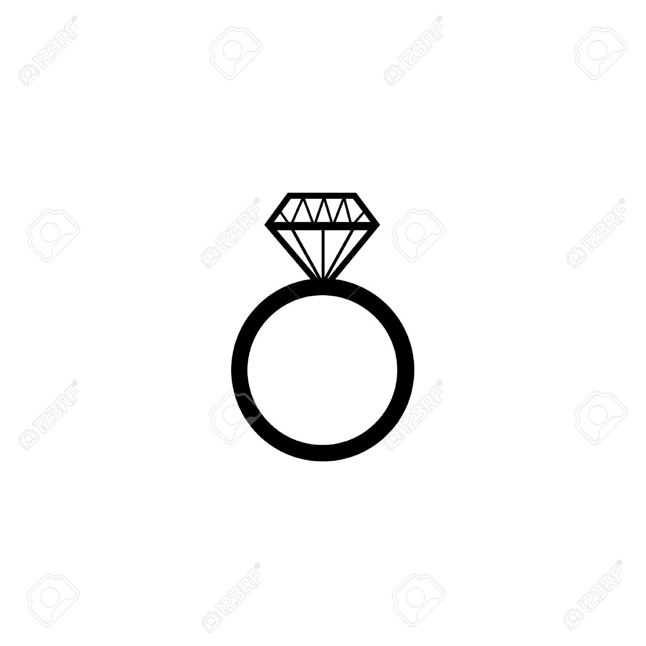 Diamond Engagement Ring Vector Symbol Royalty Free Cliparts Vectors