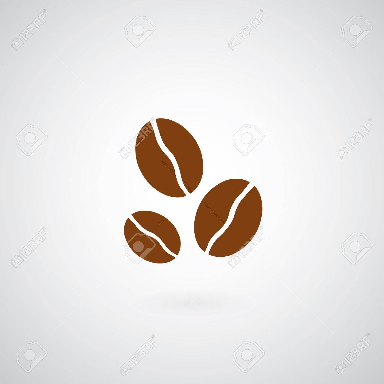 Coffee beans symbol on gray background - 29035990