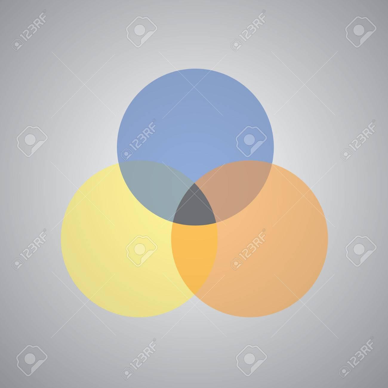 vector three intersection circles design - 67723522