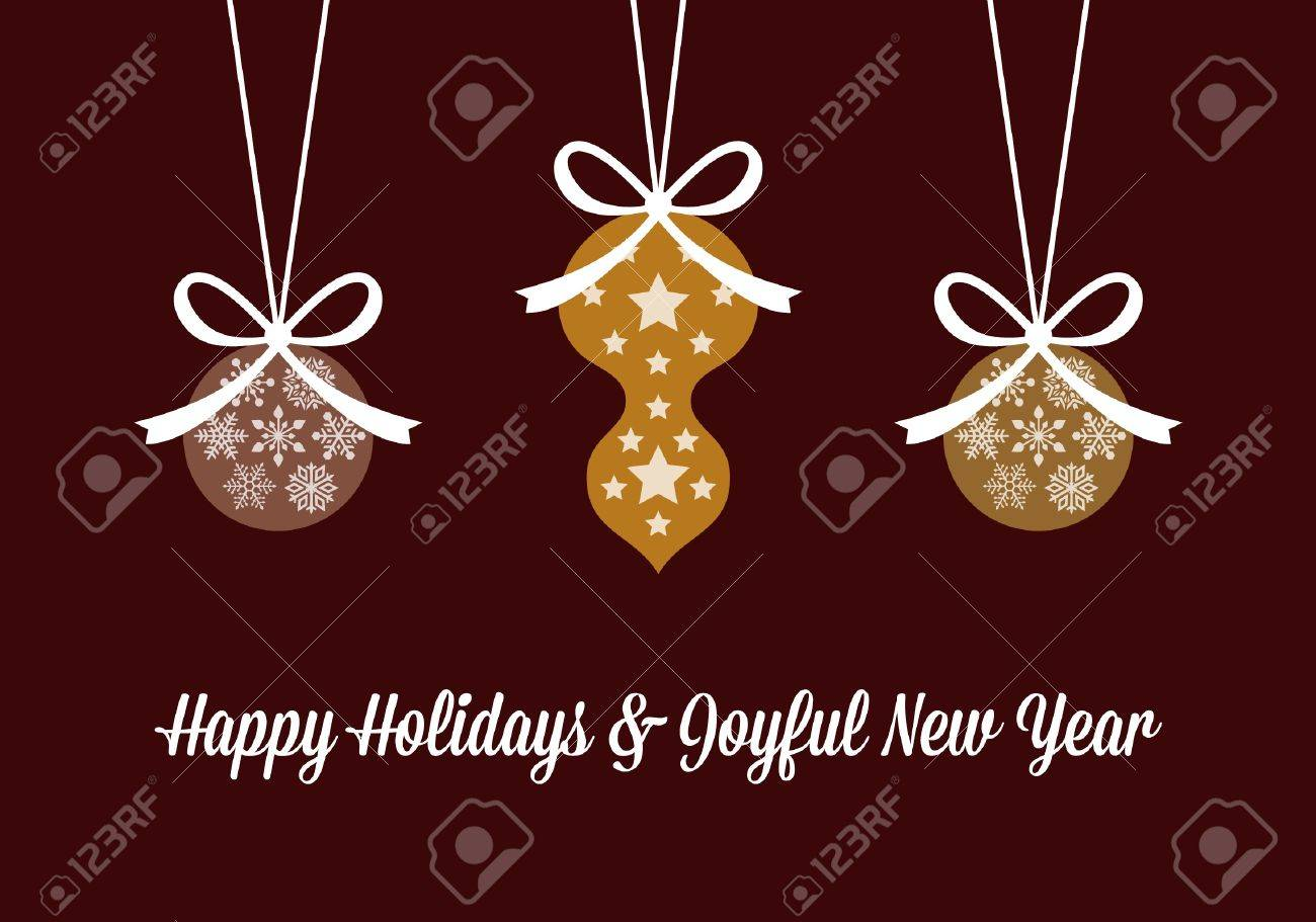 Happy holidays and joyful new year greetings royalty free cliparts happy holidays and joyful new year greetings stock vector 16777370 m4hsunfo