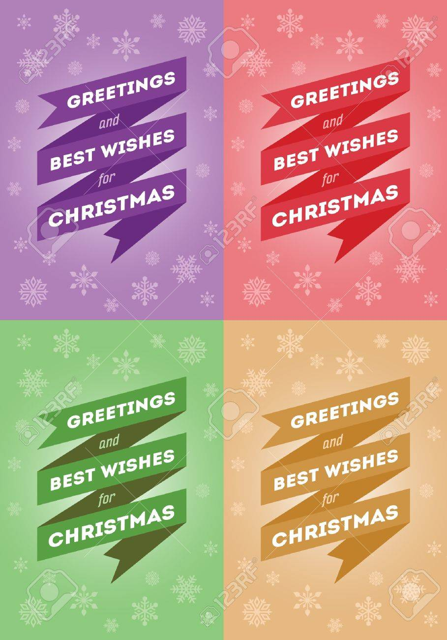 Greeting And Best Wishes For Christmas Christmas Card In 4