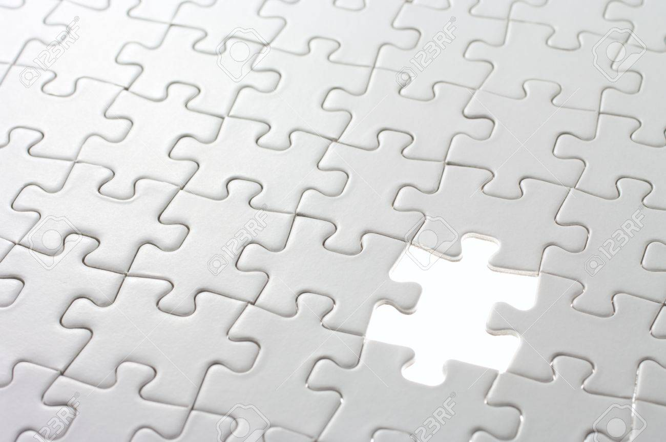 Last Missing Puzzle Piece Concept Image Of Unfinished Task And ...