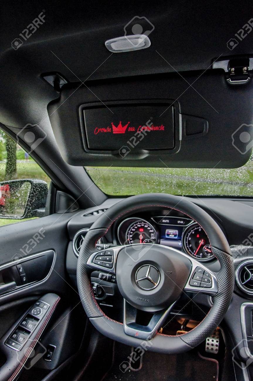 praguethe czech republic 3182017 interior of mercedes benz cla 45