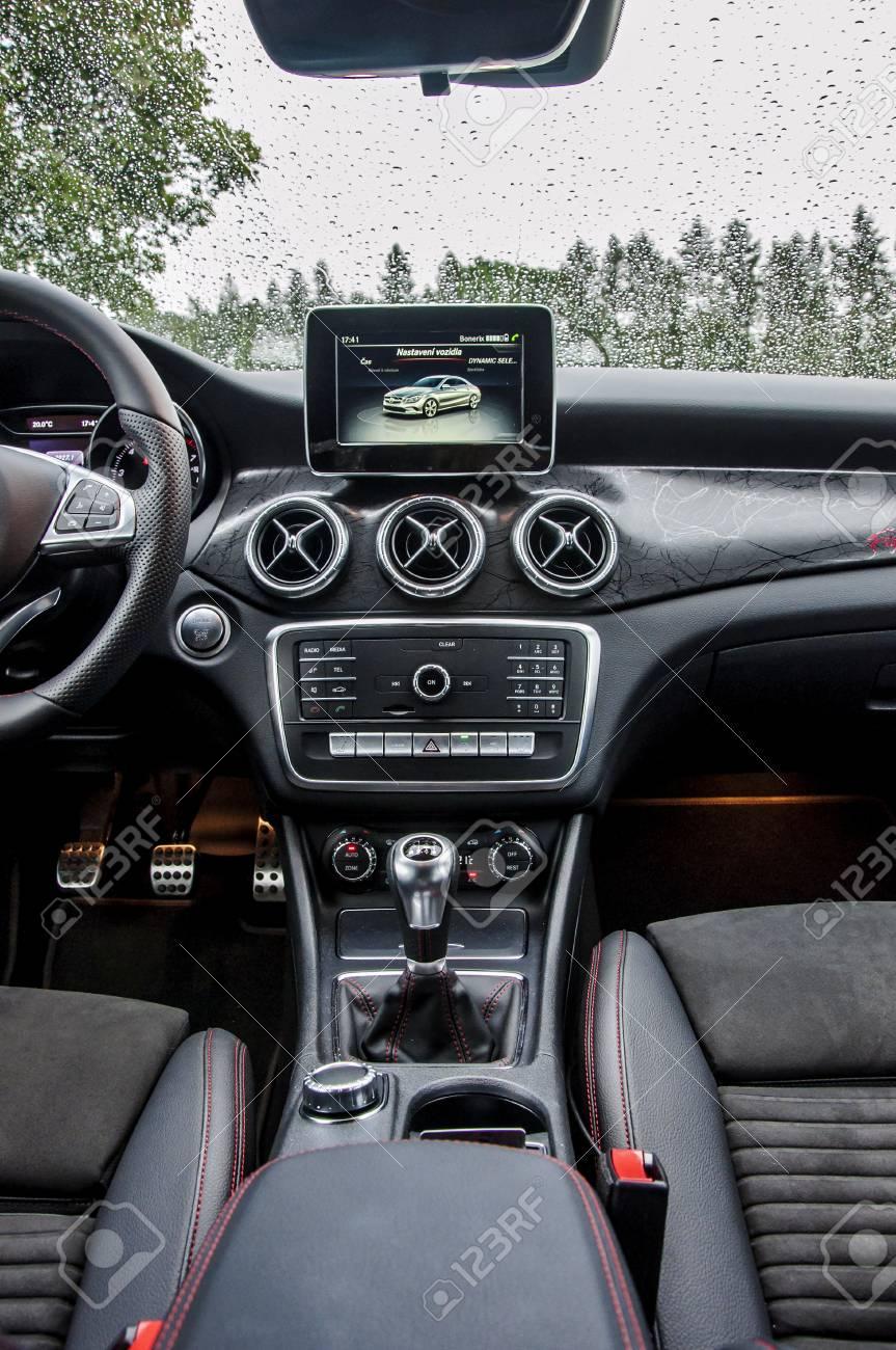 Prague The Czech Republic 31 8 2017 Interior Of Mercedes Benz