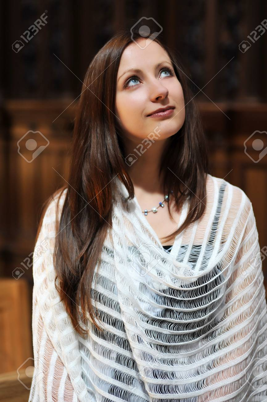 Young woman portrait in the church Stock Photo - 6547925