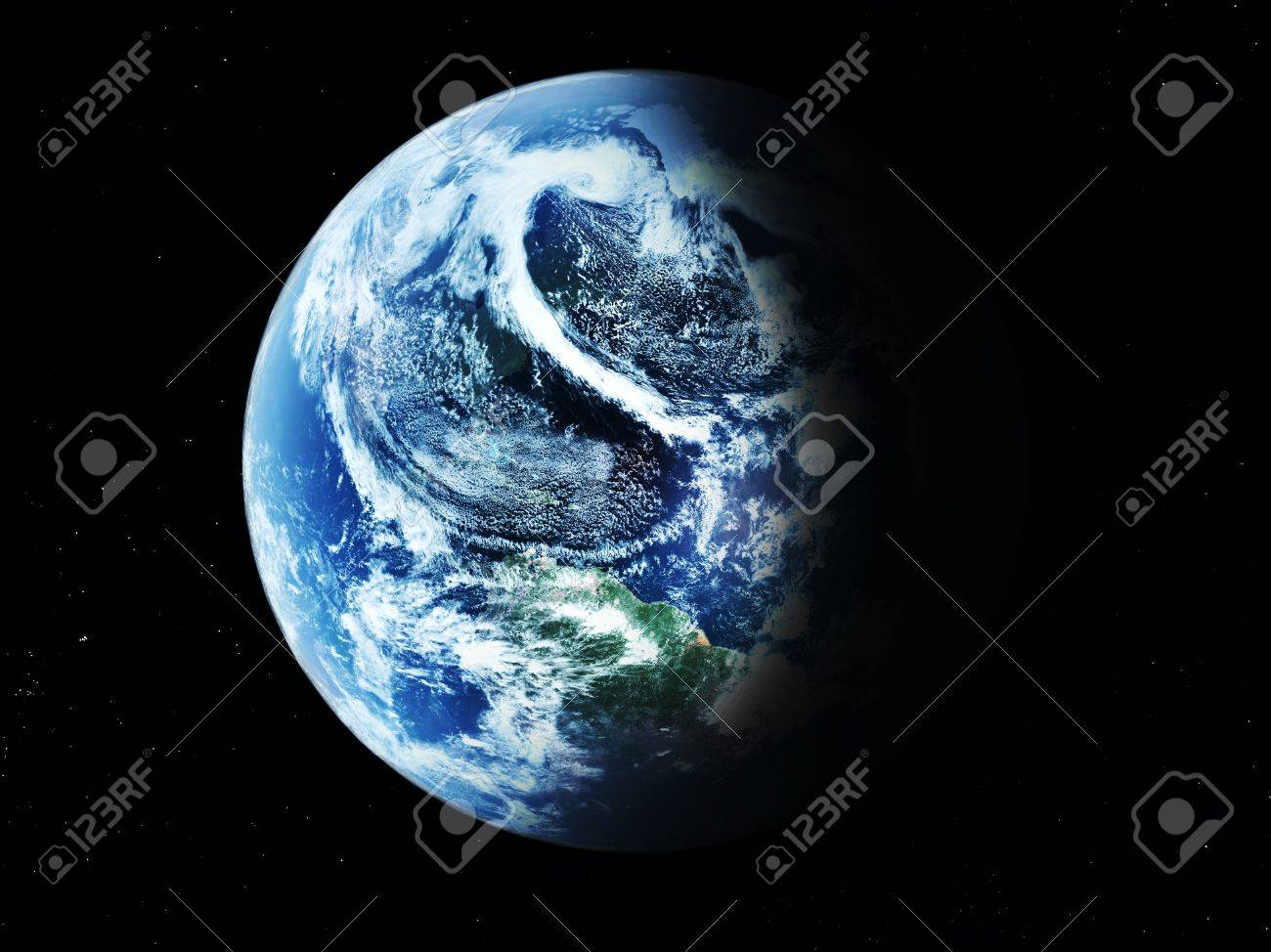 blue  planet earth  in space. Stock Photo - 7478660
