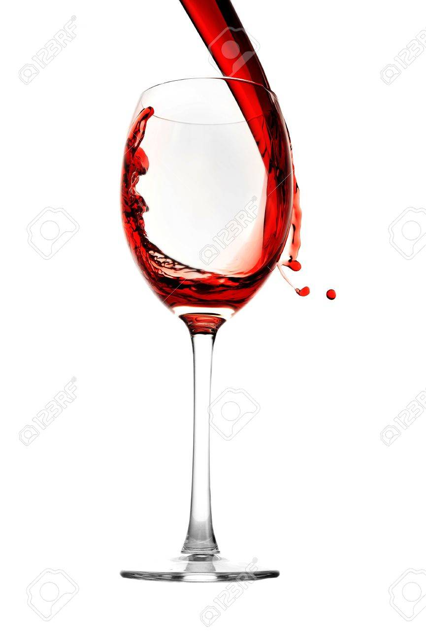 red wine pour into glass close up Stock Photo - 8371851
