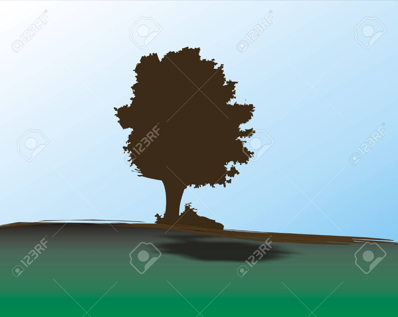 Lonely oak tree Stock Photo - 333863