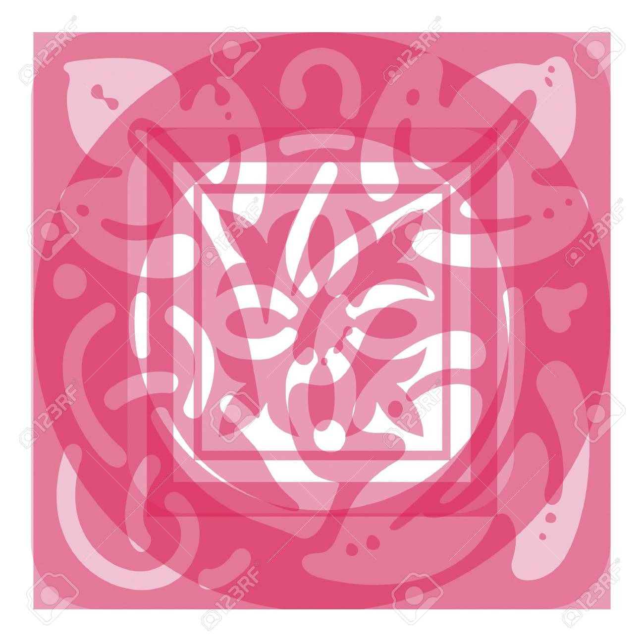 Ornate Panel Scrolled Design Stock Photo - 344901