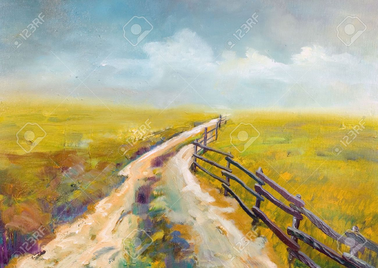 Village Road This Is Oil Painting And I Am Author Of This Image Stock Photo Picture And Royalty Free Image Image 959362