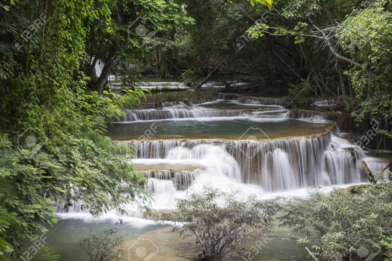 Huai Mae Khamin waterfall in Thailand Stock Photo - 21264573
