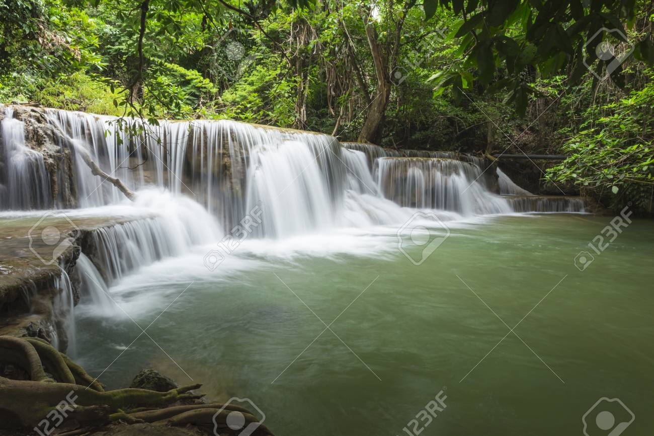 Huai Mae Khamin waterfall in Thailand Stock Photo - 21264587