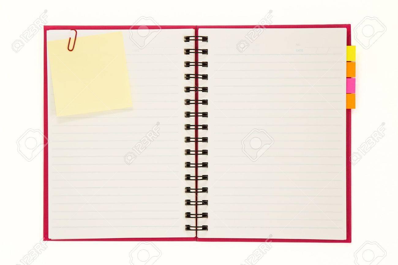 Carnet rouge isolée sur fond blanc Banque d'images - 10643594
