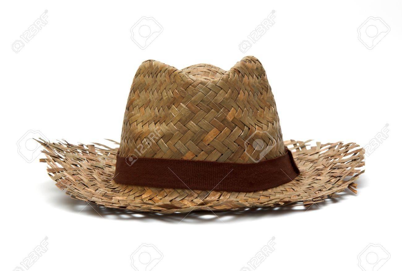 chapeau de paille isolé Banque d'images - 11884808