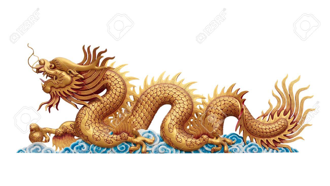 or de dragon sur fond blanc Banque d'images - 11884700