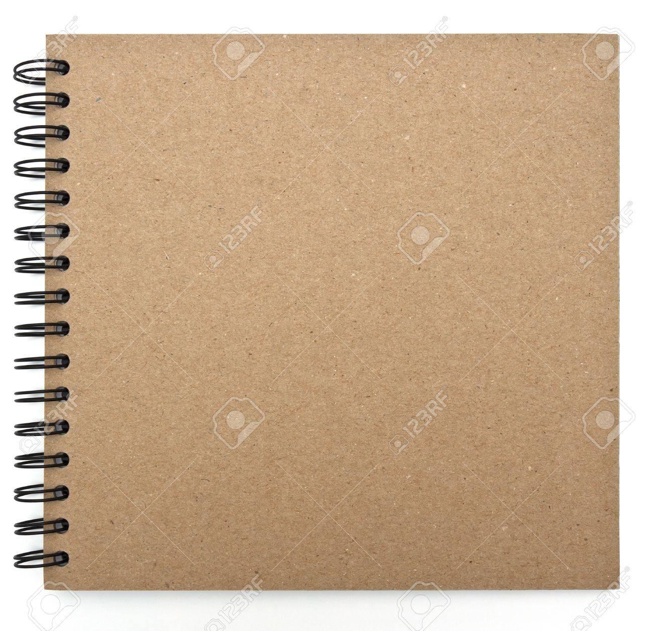 recyclé couverture papier de cahier Banque d'images - 12544790