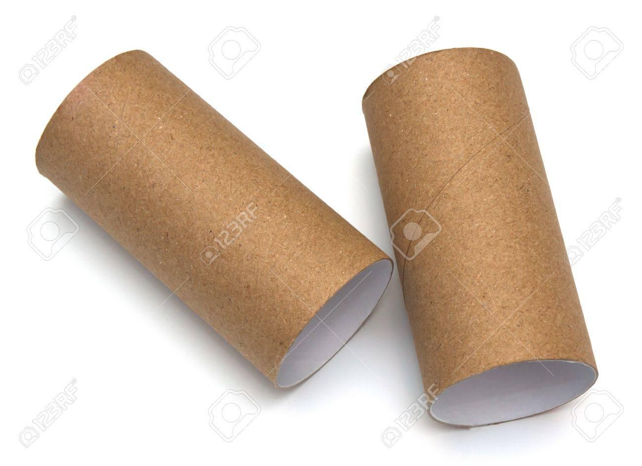 rouleau de papier de salle de bain sur fond blanc Banque d'images - 12544511