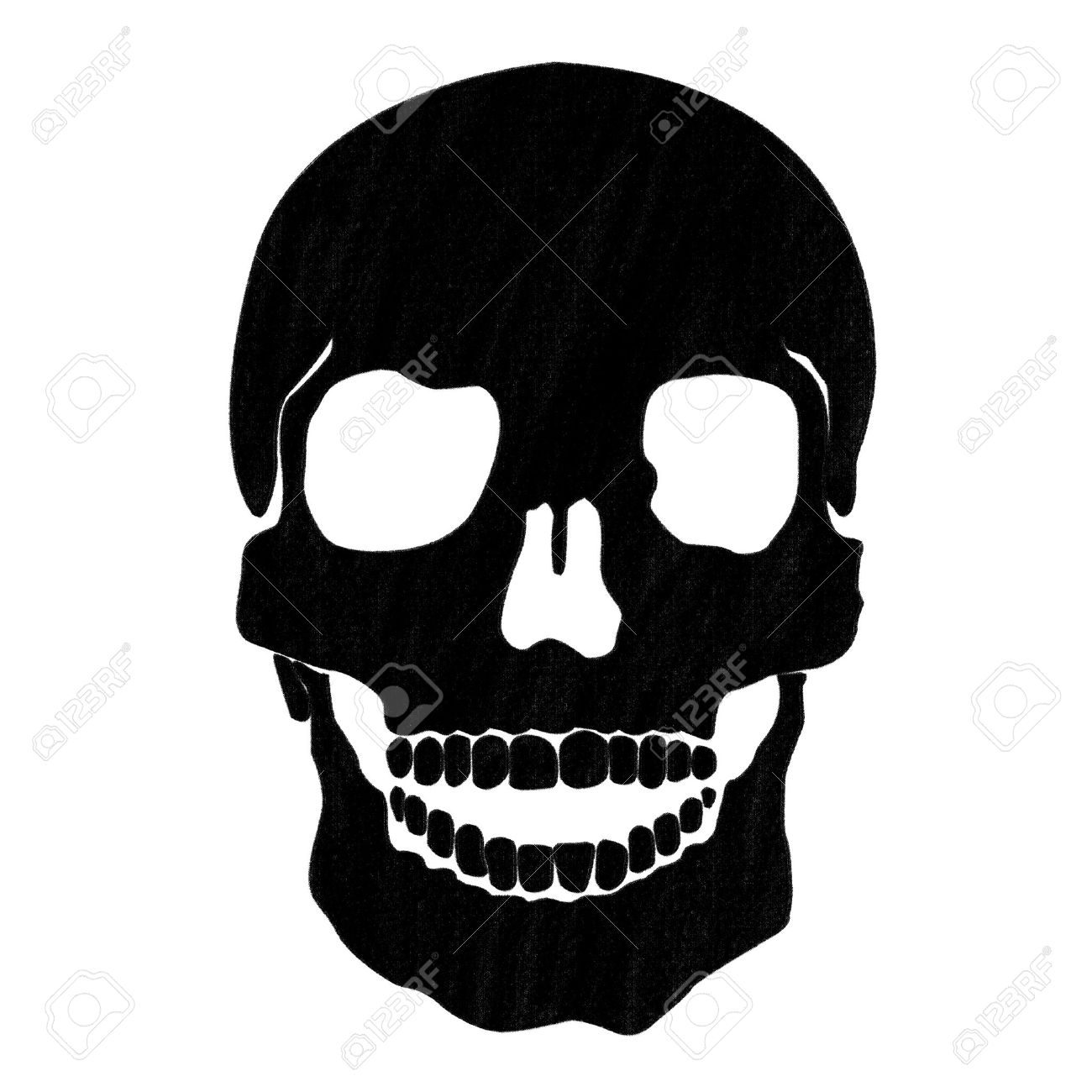 skull drawing by pastel on charcoal paper Stock Photo - 12544766