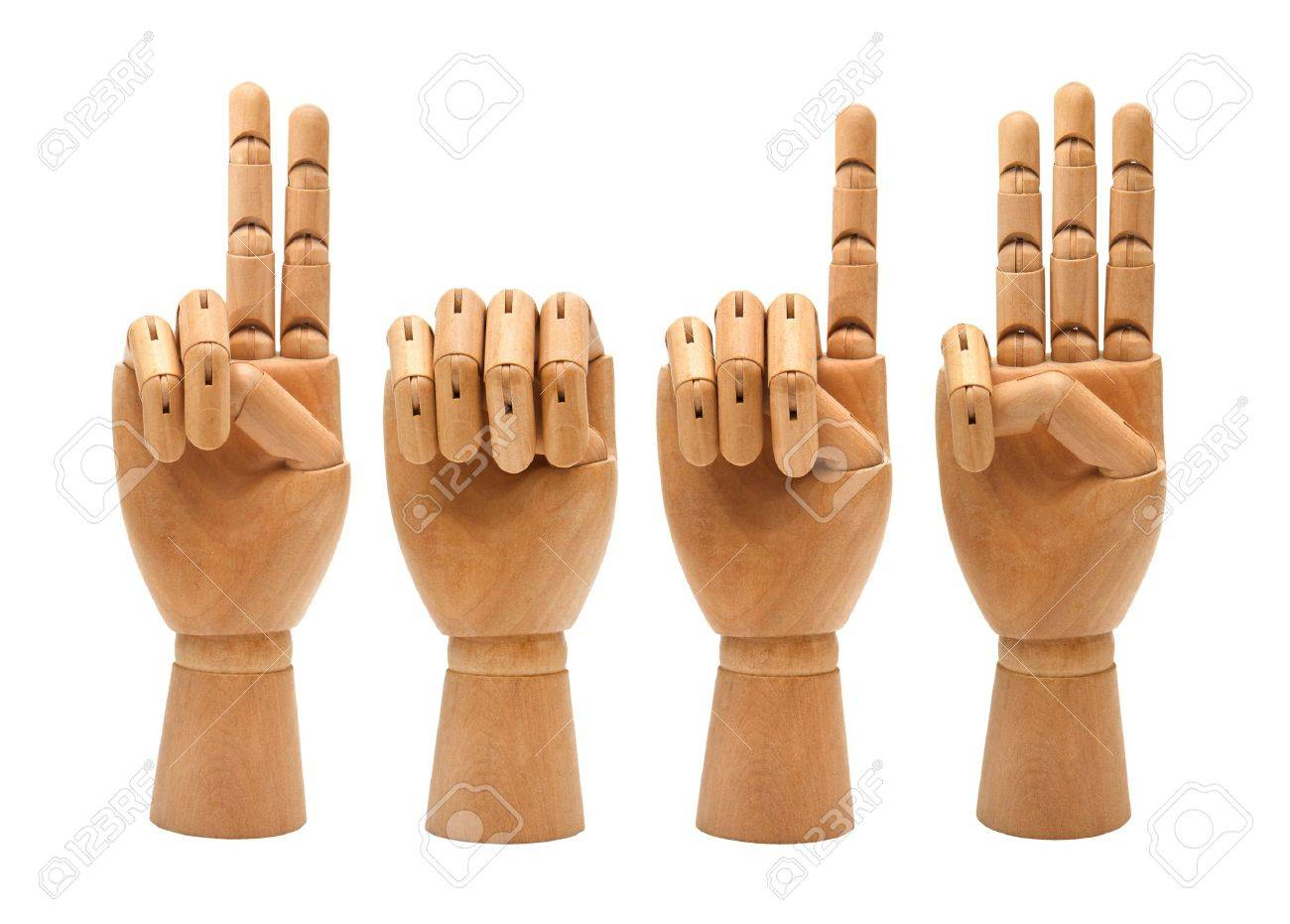 wooden hands forming number 2013 Stock Photo - 13570928