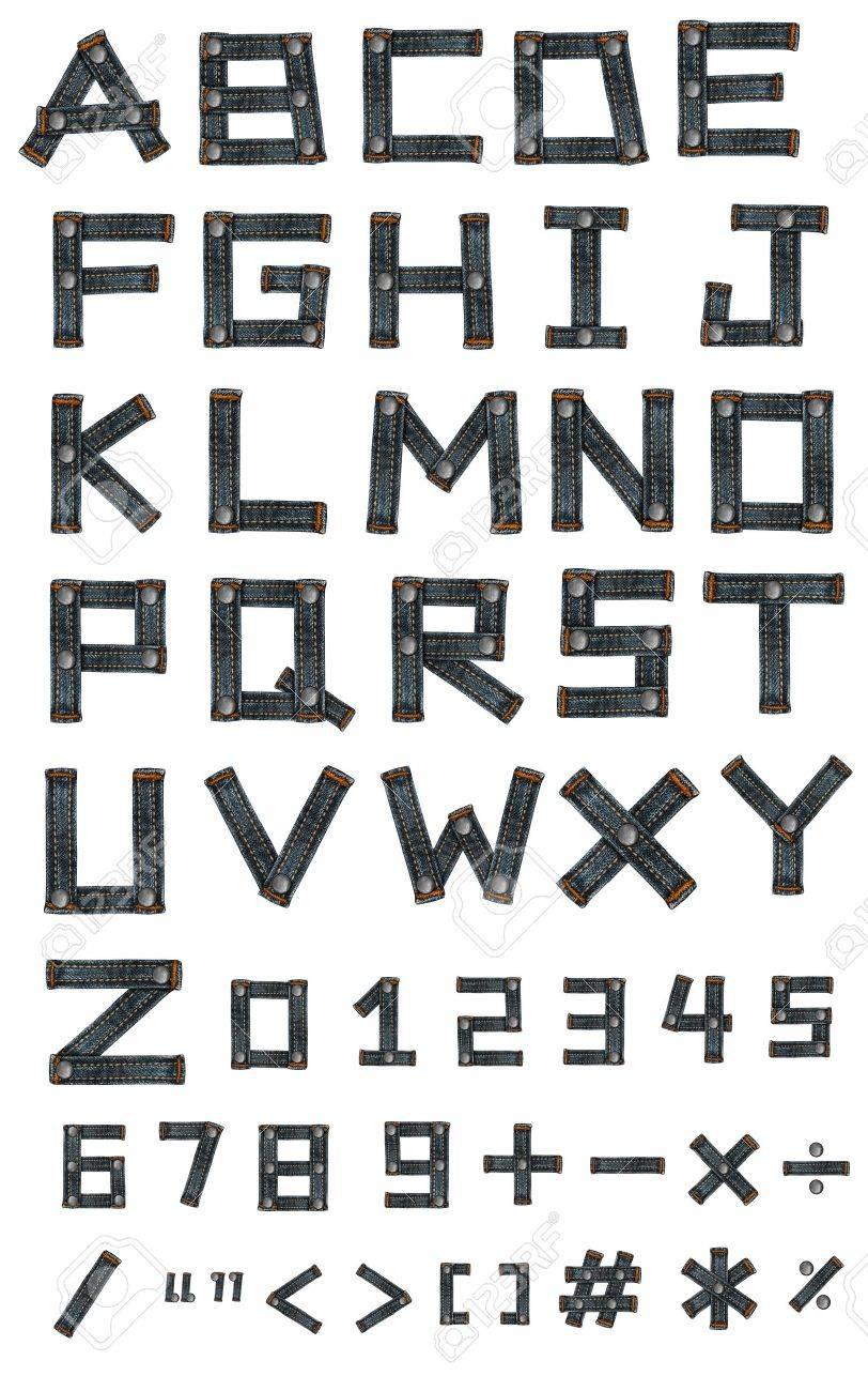 lettre de l'alphabet jean Banque d'images - 14150481