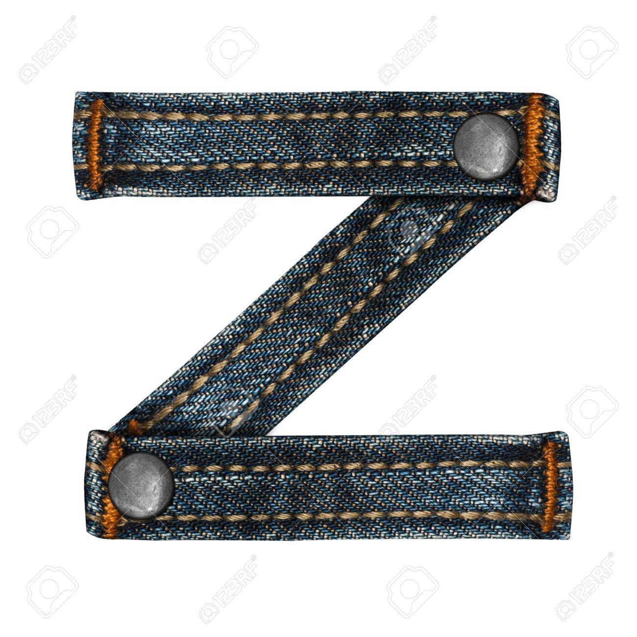 letter of jeans alphabet Stock Photo - 14150415