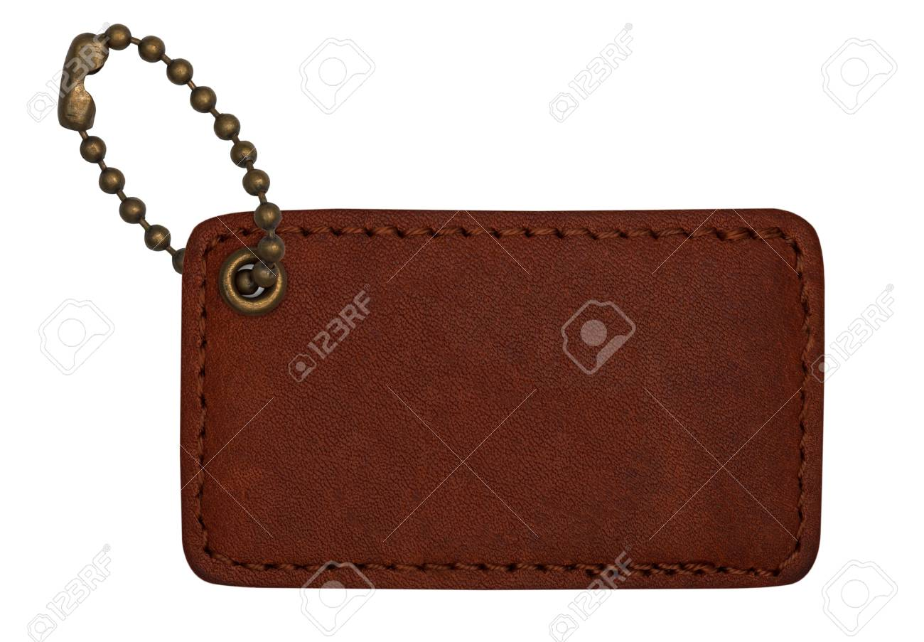 leather tags on white background Stock Photo - 14658997