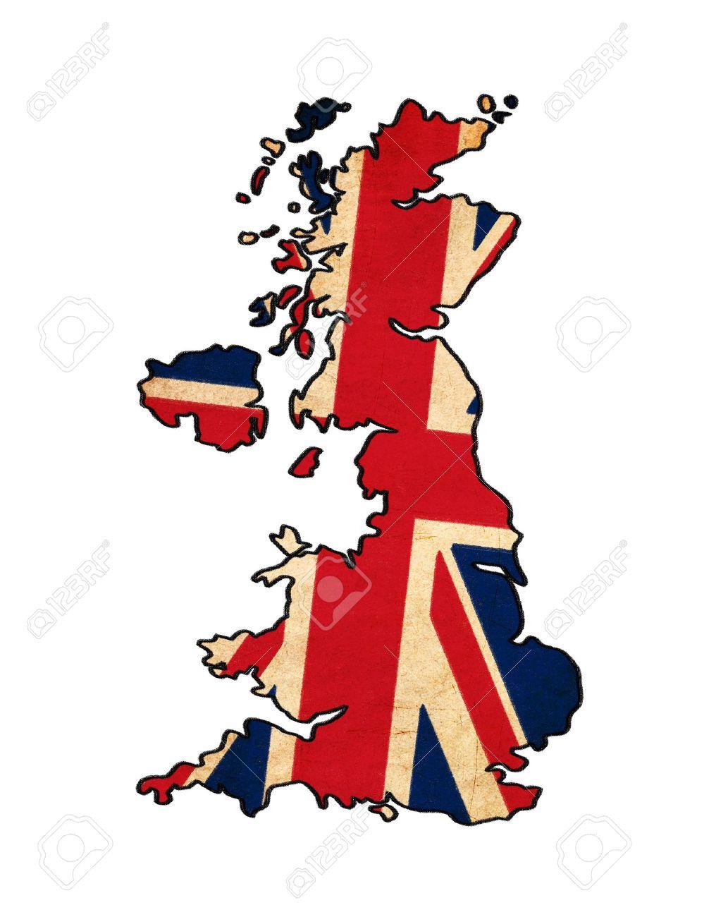 Royaume-Uni carte de dessin-Unis flag-Uni, grunge et rétro flag series Banque d'images - 15531437