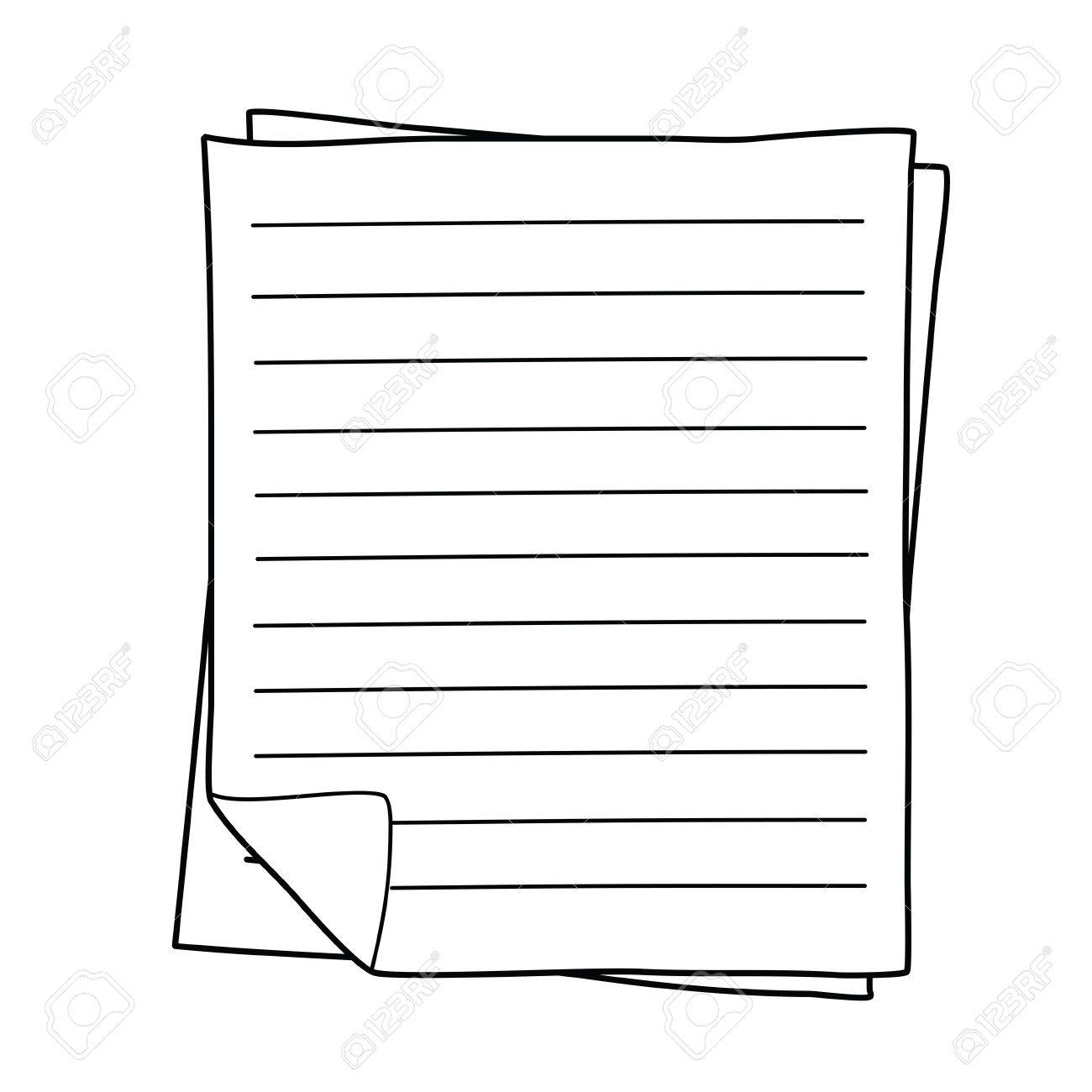 Notebook Paper drawing Stock Photo - 15741975