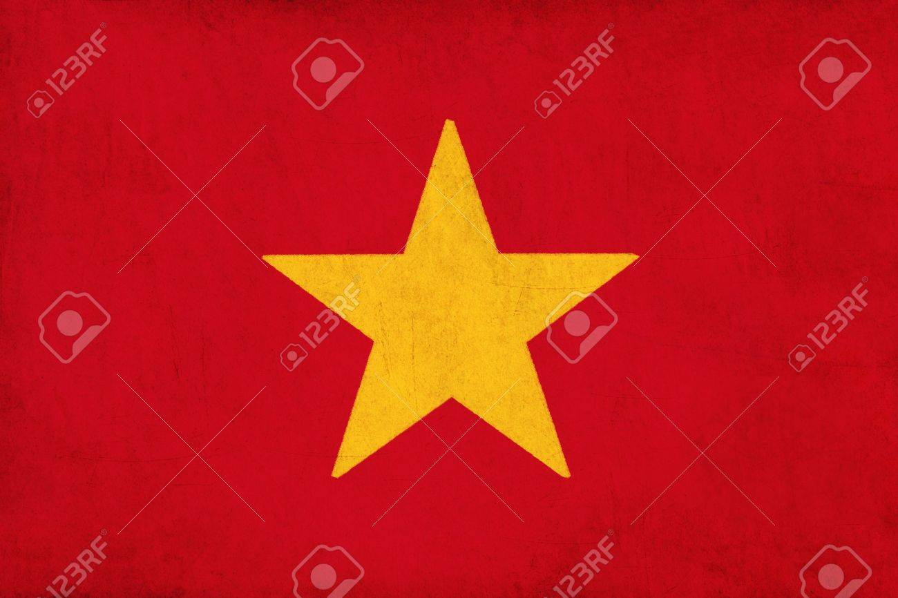 Vietnam flag drawing ,grunge and retro flag series Stock Photo - 15796739