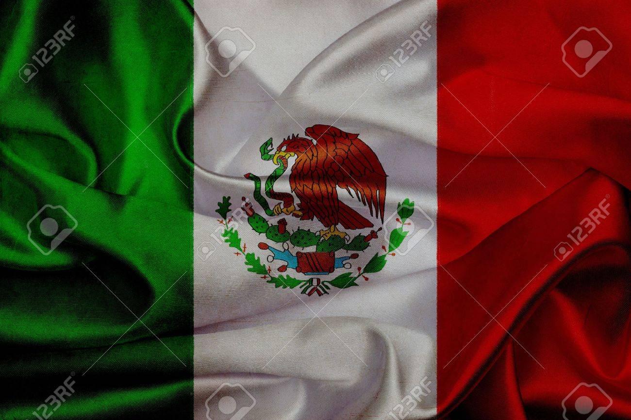 Mexique grunge flag waving Banque d'images - 19036569